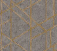 AS Creation Living Walls Concrete & Gold Geo 36928-1 Wallpaper